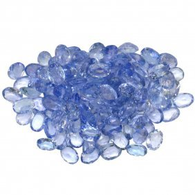 15.4ctw Oval Mixed Tanzanite Parcel