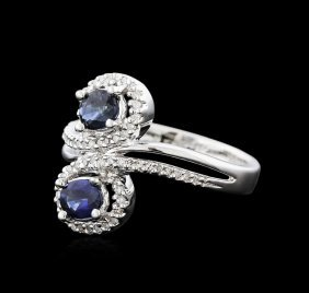 14kt White Gold 0.92ct Sapphire And Diamond Ring