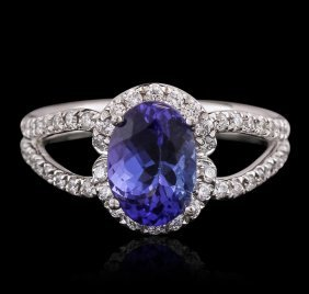 18kt White Gold 1.93ct Tanzanite And Diamond Ring