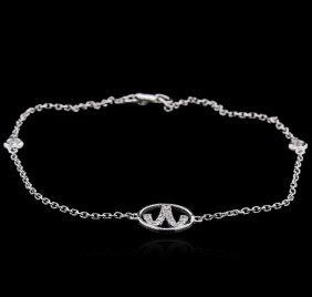 0.22ctw Diamond Bracelet - 14kt White Gold