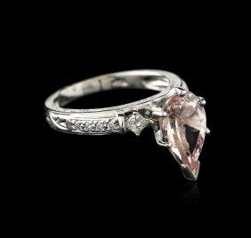 14kt White Gold 2.23ct Morganite And Diamond Ring