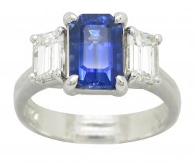 2.32ct Sapphire And Diamond Ring - Platinum