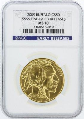 2009 Early Release Ngc Graded Ms70 1oz American Buffalo