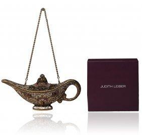 Judith Leiber Habibi Genie Lamp Minaudiere Clutch
