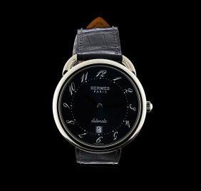 Hermes Stainless Steel Arceau Tgm Watch