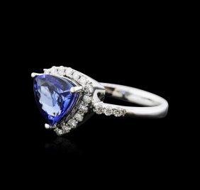 14kt White Gold 1.95ct Tanzanite And Diamond Ring