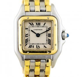 Cartier 18kt Two-tone Panthere Ladies Watch