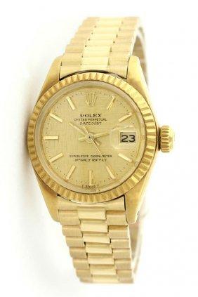 Rolex 18k Yellow Gold President Ladies Watch