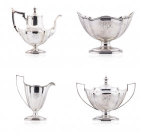Gorham Sterling Silver 5 Piece Coffee And Tea Set