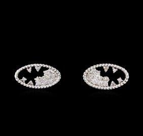 0.27ctw Diamond Earrings - 14kt White Gold