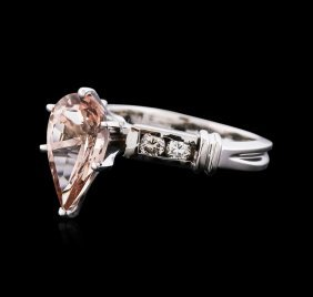 14kt White Gold 2.63ct Morganite And Diamond Ring