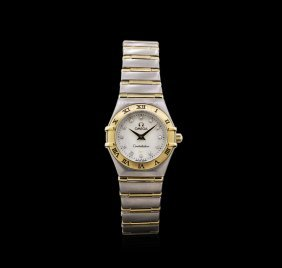 Omega Two-tone Diamond Constellation Ladies Watch