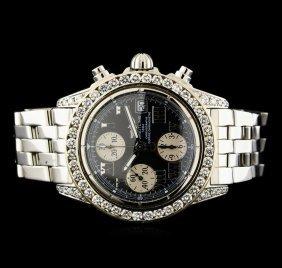Breitling Stainless Steel 3.81ctw Diamond Men's Watch