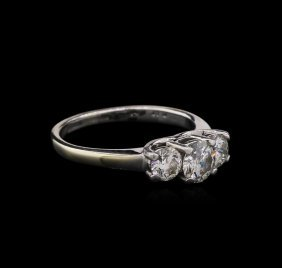 1.06ctw Diamond Ring - 14kt Two-tone Gold