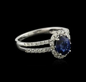 18kt White Gold 1.42ct Sapphire And Diamond Ring