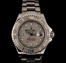Rolex Stainless Steel And Platinum Yacht-master Watch