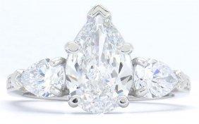 Gia Cert 3.21ctw Diamond Ring - Platinum