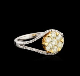18kt Two-tone Gold 1.05ctw Diamond Ring