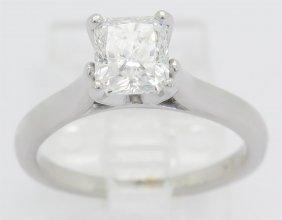 Gia Certified 1.04ct Diamond Ring - 18k White Gold