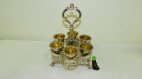 Silver Gallery Egg Cordial Holder Stand Set (with