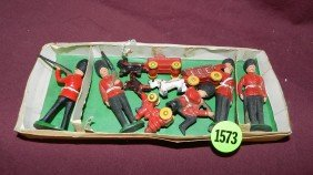 Box Of British Style Painted Lead Soldiers And Mo