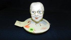 Rare Regal China Granny Canister Jar Lid