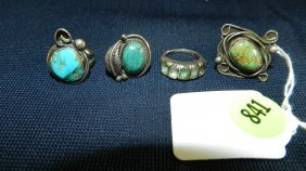 Great Collection Of Estate Jewelry, Turquoise Ring