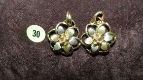 Lovely Ladies (14KT) Gold Earrings TL Gr's Approx 1