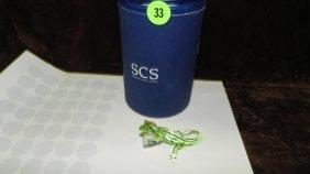 Great Swarovski Crystal Lizard Figurine In Box