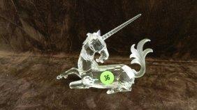 Great Marked Swarovski Crystal Unicorn Figurine No