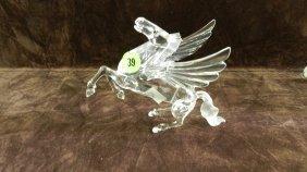 Great Marked Swarovski Crystal Pegasus Figurine No
