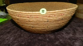 Authentic Native American Handmade Woven Basket, Es