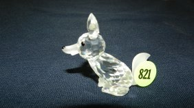 Great Stamped Swarovski Crystal Fox Figurine