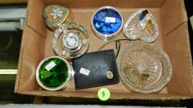 Nice Tray Of Estate Jewelry Boxes / Ring Holders (no