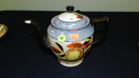 Painted Porcelain Lusterware Tea Pot