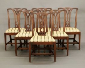 6 Chippendale Dining Chairs