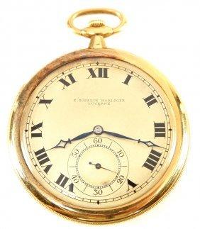 18k E. Gubelin Minute Repeater Pocket Watch