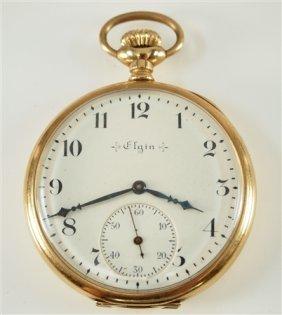 14k Elgin Pocket Watch