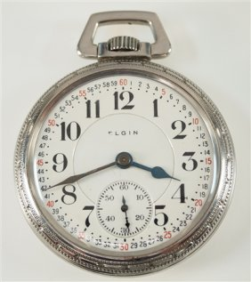 "Elgin ""father Time"" Pocket Watch"