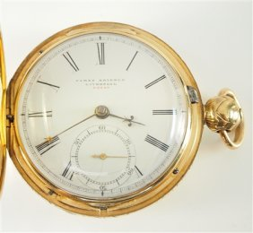 14k Liverpool Fusee Pocket Watch