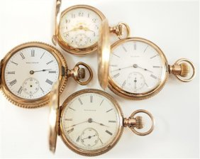 4 Lady's Gold Filled Pendant Watches